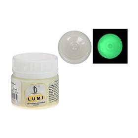 Краска акриловая люминесцентная, 20 мл LUXART Lumi жёлто-зелёный, жёлто-зелёное свечение