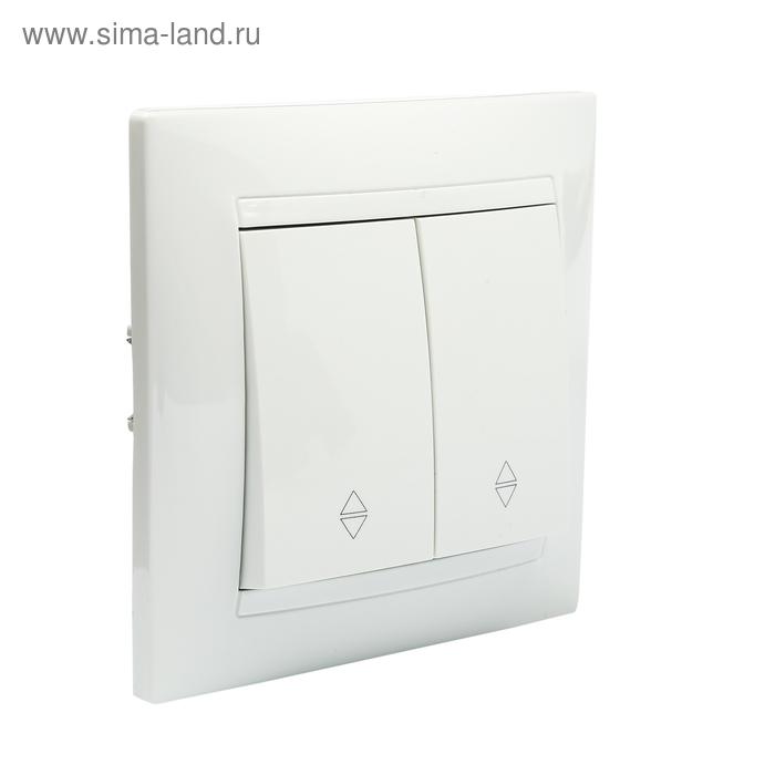 """Выключатель на 2 направления 2 кл. 10А белый """"Лама"""" TDM"""