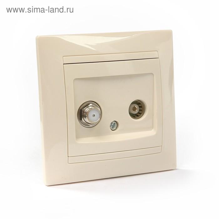 """Розетка TV (""""мама"""") + SAT (F-разъем) 0-2400МГц сл. кость """"Лама"""" TDM"""
