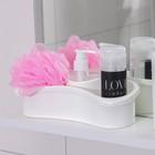Держатель для ванных принадлежностей с дозатором жидкого мыла, цвет МИКС