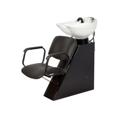 Мойка парикмахерская ЕЛЕНА с креслом КОНТАКТ, цвет черный