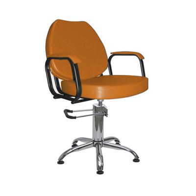 """Парикмахерское кресло """"Соло гидравлика"""", 60*65 см, пятилучье хром, цвет коричневый"""