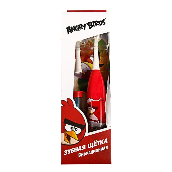 Зубная щётка Longa Vita Angry Birds SGA-1, вибрационная, от 3-х лет, красная - фото 725578821