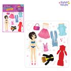 "Game dress up doll ""edgy, urban fashionista"", from foam Board"