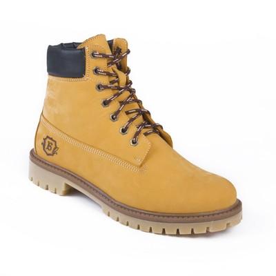 Ботинки мужские арт. 217101-3-7Б / байка (желтый) (р. 40)