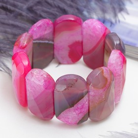 """Bracelet oval Maxi, faceted """"pink agate"""""""