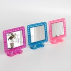 Mirror folding-suspension, with a frame for photo, the mirror surface is 8 × 6 cm, MIX