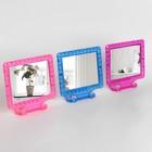 Зеркало складное-подвесное, с рамкой под фотографию, зеркальная поверхность — 11 × 9 см, МИКС