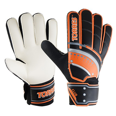 Перчатки вратарские TORRES Club, размер 11, цвет чёрно-оранжевый