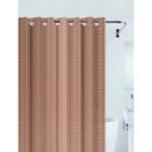 Штора для ванной 3D 180х200 см, цвет коричневый