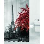 Штора для ванной PARIS, цвет Париж HOT Print 180х200