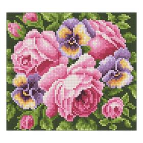 Набор алмазной вышивки «Розы и анютины глазки»