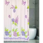 Штора для ванной COMELY GARDEN 180х180, цвет розовый-сиреневый