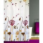 Штора для ванной FLOWER SHRUBS 180х180, цвет бежевый-оранжевый