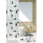 Штора для ванной Little Black Cat 180х180, цвет бело-черный