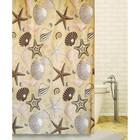 Штора для ванной SEABED SIGHT 180х180, цвет бежевый