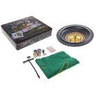 Game set: roulette (cards 54 PCs, 100 PCs chips, cubes 4 piece cloth)