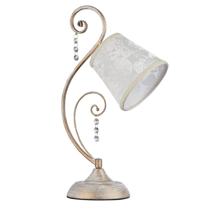 Настольная лампа Lorette 1x40W E14 белое золото 15x27,3x45,4см - фото 7931327