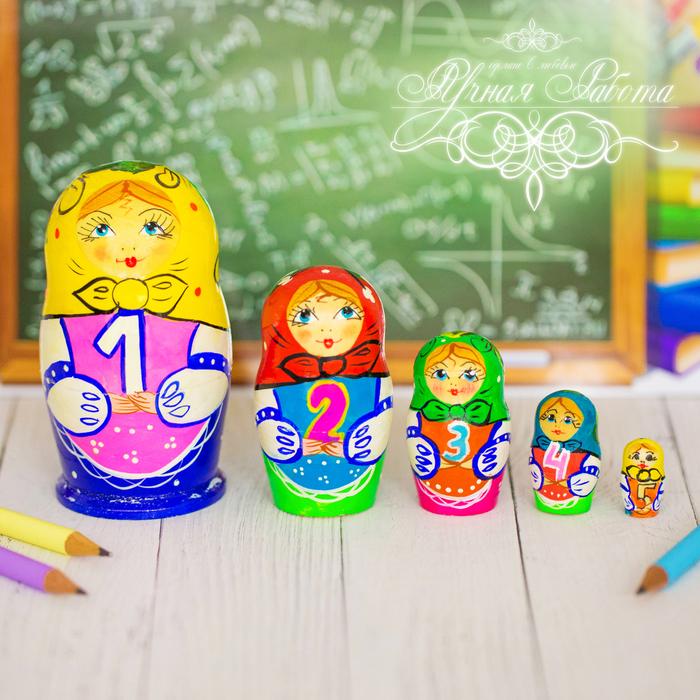 "Матрешка 5 кукольная ""Арифметика"" 11 см"