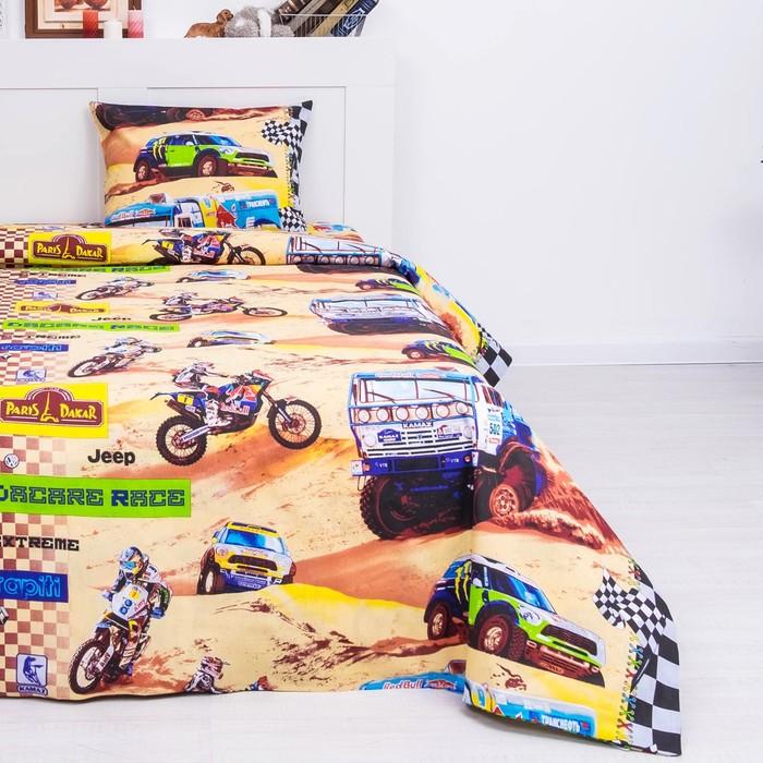 Детское постельное бельё 1,5сп «Париж-Дакар», 143х214, 143х214, 50х70см