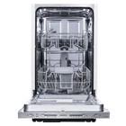 Посудомоечная машина Maunfeld MLP-08S, класс A++, 9 комплектов, 5 режимов, серебристый