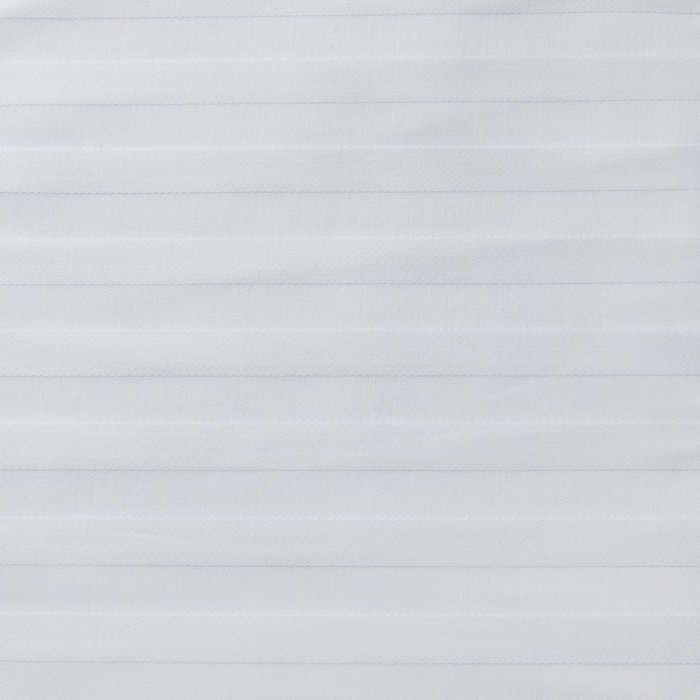 Ткань отбеленная Сатин-страйп 1х1 ш 220 см, пл. 125 г/м², хлопок 100%
