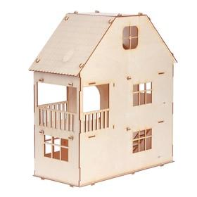 Домик для кукол, 3 этажа с мансардой