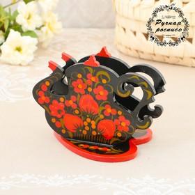 Салфетница «Чайник», хохлома