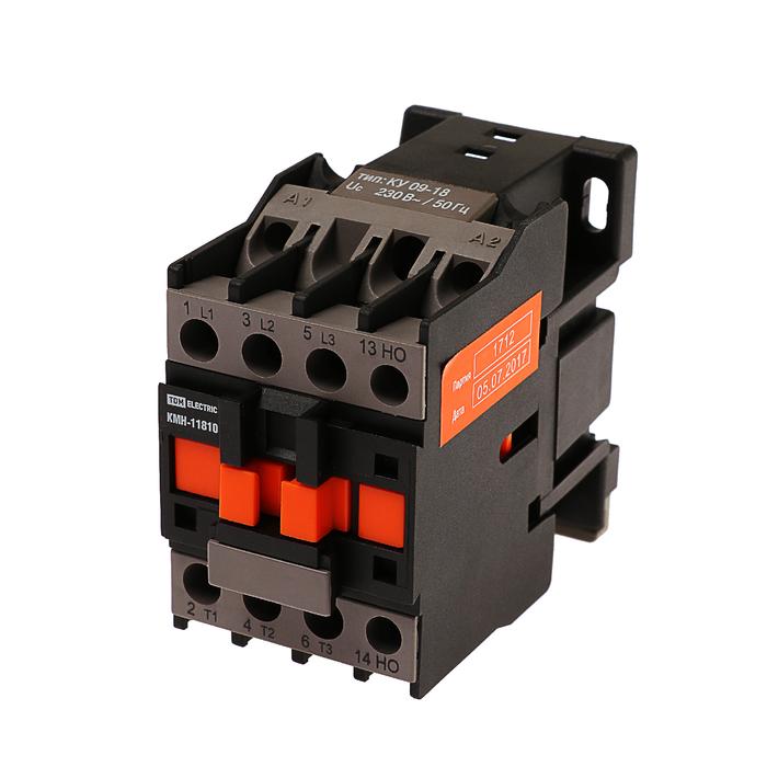 Контактор TDM КМН-11810, 18 А, 230 В/АС3, 1НО, SQ0708-0010