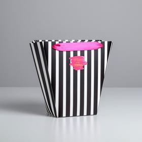 Пакет для цветов с атласными лентами «Летай от счастья» Ош