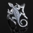 """Кольцо """"Лизарт"""", безразмерное, цвет чернёное серебро"""