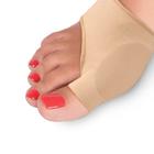 Протектор силиконовый для защиты большого пальца стопы на тканевой основе LUM609, р-р. 2