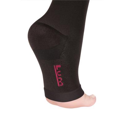 Гольфы компрессионные 1 кл. Normal, цвет Черный, откр. носок, размер XL