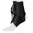 Бандаж на голеностопный сустав со шнуровкой и ребрами жесткости AS-ST, Черный, размер L
