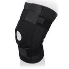 Бандаж на коленный сустав неразъемный со спиральными ребрами жесткости KS-052, Черный, XL