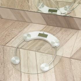 Весы напольные LuazON LVE-001, электронные, до 180 кг, белые Ош