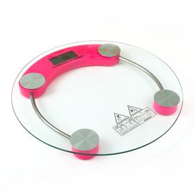 Весы напольные LuazON LVE-001, электронные, до 180 кг, розовые Ош