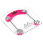 Весы напольные LuazON LVE-002, электронные, до 180 кг, розовые