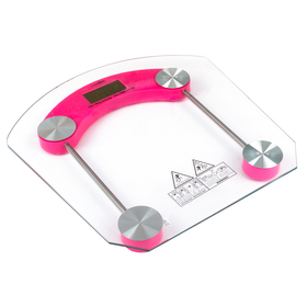 Весы напольные LuazON LVE-002, электронные, до 180 кг, розовые Ош