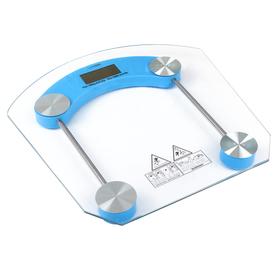 Весы напольные LuazON LVE-002, электронные, до 180 кг, голубые Ош