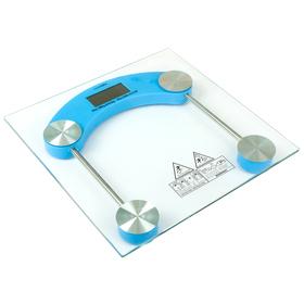 Весы напольные LuazON LVE-003, электронные, до 180 кг, голубые Ош