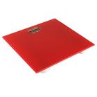 Весы напольные LuazON LVE-004, электронные, до 180 кг, красные
