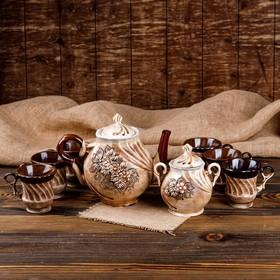"""Чайный набор """"Орфей"""", 8 предметов, чайник 2 л, чашки 0.15 л"""