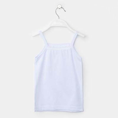 Майка для девочки, рост 110 см, цвет белый м0007