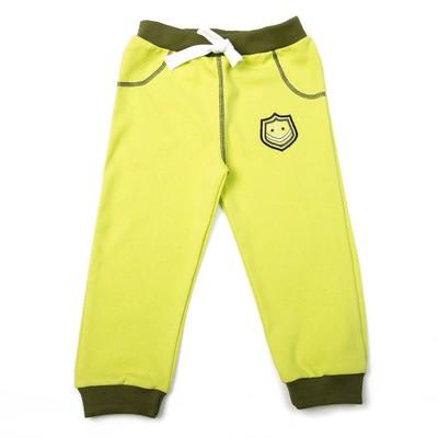 Штанишки для мальчика, рост 74 см, цвет зелёный 63016_М