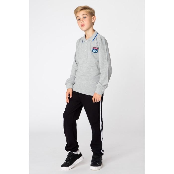 Футболка-поло для мальчика, рост 116 см, цвет серый 2024