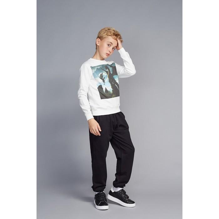 """Свитшот для мальчика family look """"Динозавры"""" OXO-0205-009, цвет молочный, рост 134"""