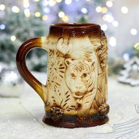 """Бокал """"Тигр"""", керамика, 0.65 л"""