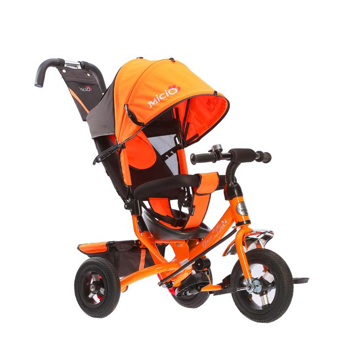 """Велосипед трехколесный Micio Classic Air 2018, надувные колеса 10""""/8, цвет оранжевый"""