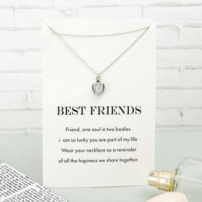 """Pendant """"Words about the main"""" best friends, crown, MIX color, 45 cm"""